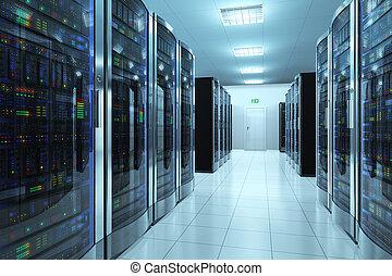 datacenter, sala, servidor