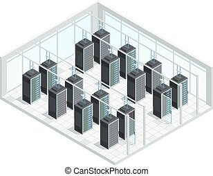 Datacenter Server Room Interior