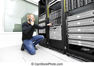 datacenter, soutien, appeler, il conseiller