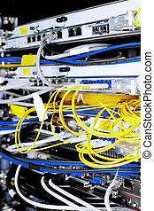 datacenter, télécommunication, mobile, équipement, operator., câbles, réseau