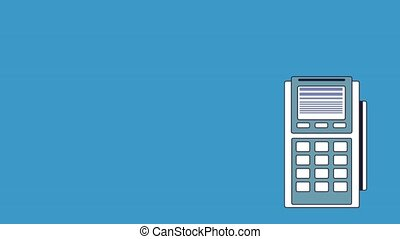 Dataphone electronic payment HD animation - Dataphone...