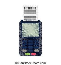 dataphone with invoice icon image