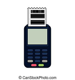 dataphone with invoice icon image