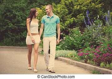 date, amants, parc