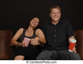 Date at the Movies - Couple on a date at the movies