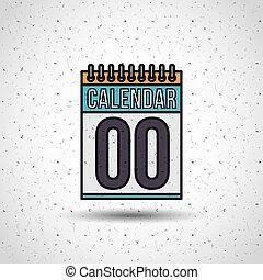 date, calendrier, rappel, icône