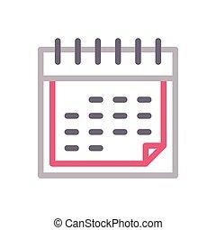 date  color line icon