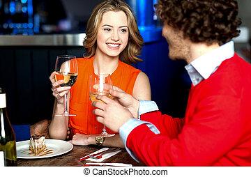 date, couple, amoureux, romantique