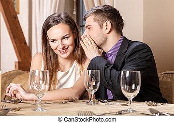 date, couple, romantique