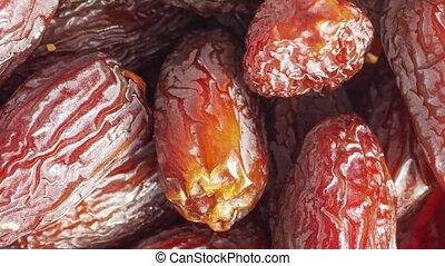 brown date (Phoenix dactylifera) fruit vegetarian food