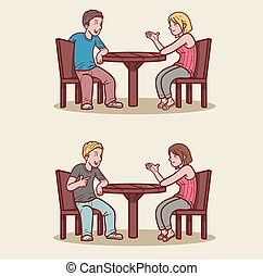 date in cafe.eps