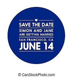 date, lettrage, sauver