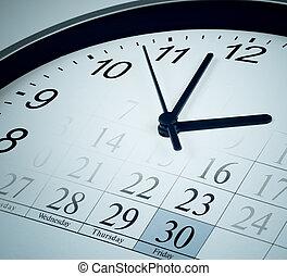 date limite, mois, concept, fin