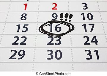 Date on a calendar 2