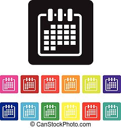 date organising icon set