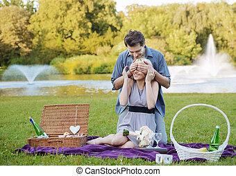 date, photo, présentation, romantique
