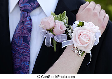 Date Prom Flowers Formal Wear Corsage - Hands of date Prom...
