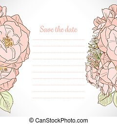 date, rose, note, sauver