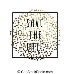 date, sauver, vecteur, illustration
