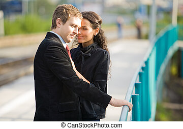 Date - Photo of pretty girl looking at her boyfriend during...