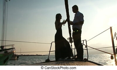 date, yacht, romantique