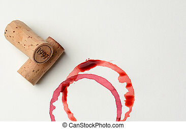 Dated Cork and Wine Stains