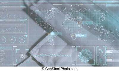 daten, animation, welt, aus, masken, landkarte, statistik, ...