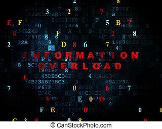 daten, concept:, informationen überlastung, auf, digitaler...