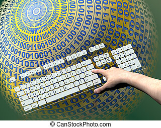 daten, server, internet
