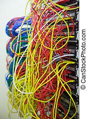 daten, vernetzung, kabel, bündel, zentrieren