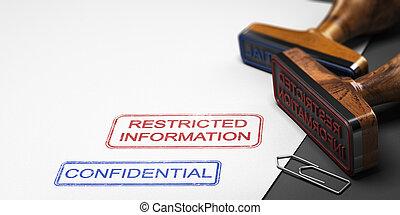 daten, vertrauliche informationen, clasified