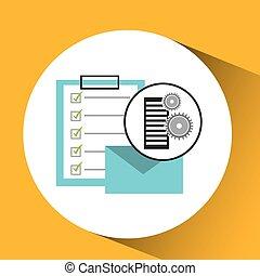datenbank, liste, e-mail, einstellung, post, kontrollieren