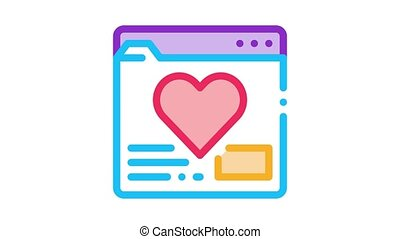 dater, créature, animation, site, icône