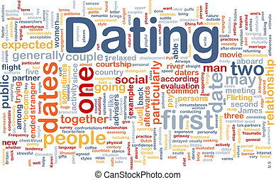 dater, fond, concept