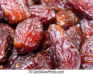 Dates fruit - Fresh dates closeup