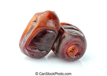 Dates fruit isolated.