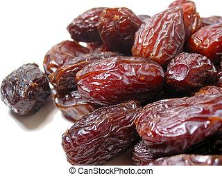 Dates on white - Fresh dates close up on white background