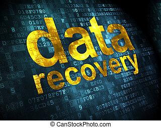 dati, concept:, dati, recupero, su, sfondo digitale