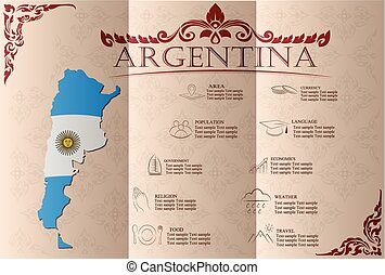 dati, infographics, vettore, statistico, sights., argentina