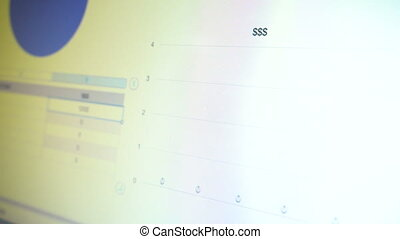 dati, schermo, sbarra, grafico