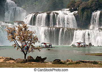Datian waterfall in China.