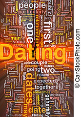 Dating background concept glowing - Background concept...