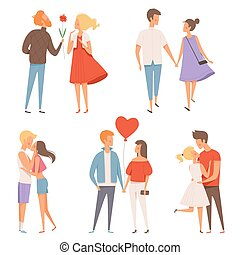 Dating couples. St valentine day 14 february happiness...