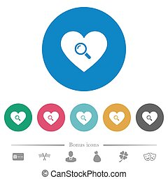 Dating flat round icons