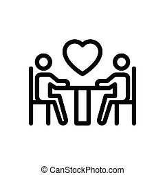 dating thin line icon