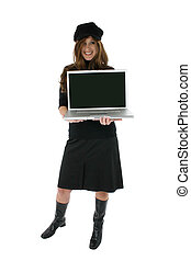 dator, kvinna