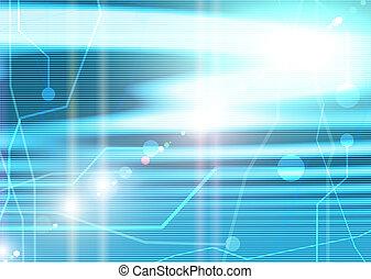 dator, moderkort, på, a, blåttbakgrund