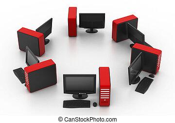 dator nät, isolerat