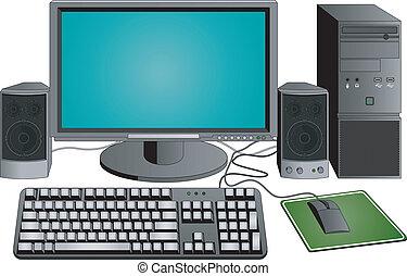 dator, sätta