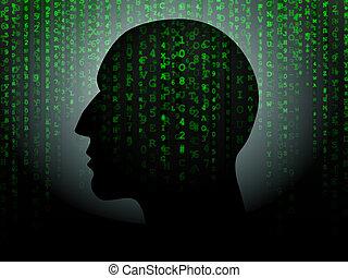 datos, cabeza